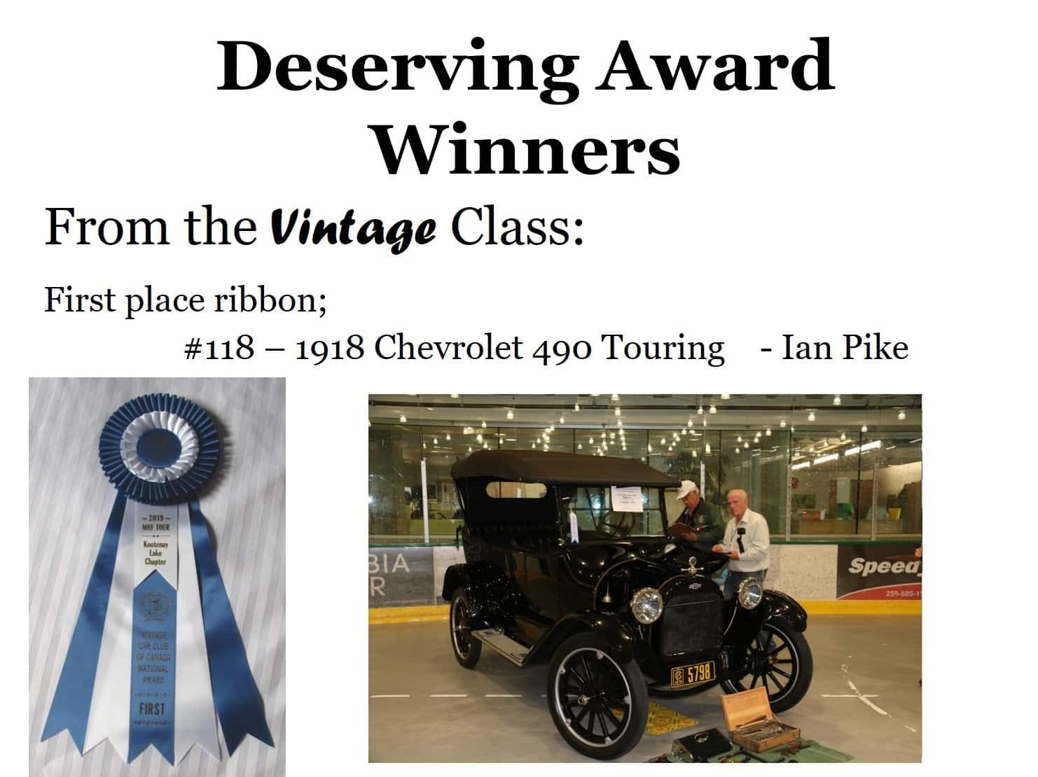 Vintage Class - 1st Place