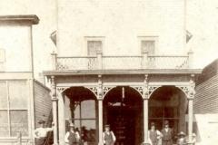 Oct/Nov 2015 - Alf's office and pharmacy in South Dakota, 1908. Harry Milburn 4th from left, Alf Milburn 2nd from left