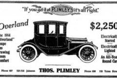 Apr/May 2021 -Thomas-Plimley-1914-Overland-ad