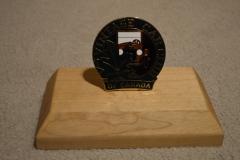 Bumper Badge Wooden presentation stand